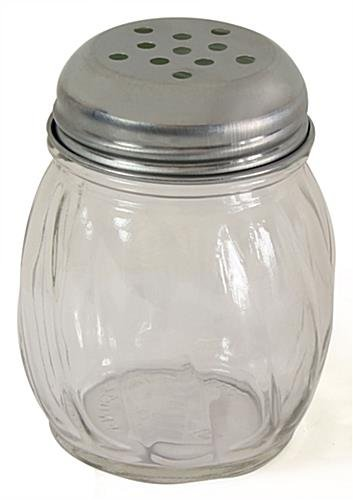 FixtureDisplays 6oz Glass Shaker - Stainless Steel Lid 19686 19686 by FixtureDisplays