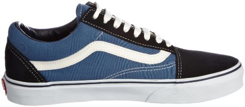 Basses Suede Bleu Vans Skool navy canvas Homme Baskets Classic Old wOSWOZ
