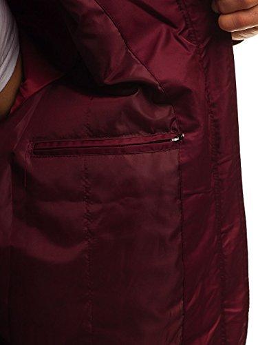 Mix BOLF Basic Bomber Transitional Claret Sport 5106 Jacket 4D4 Men's Zip HnFOqH0