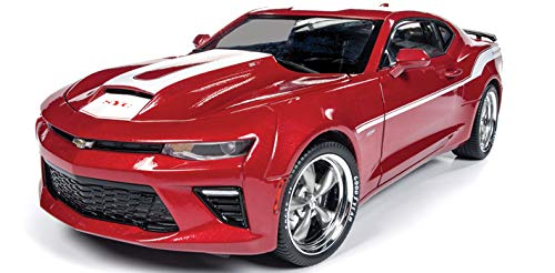 Camaro Yenko (Auto World 2017 Chevrolet Camaro Yenko Coupe Red White Stripes Limited Edition to 1002 Pieces Worldwide 1/18 Diecast Model Car AW246)