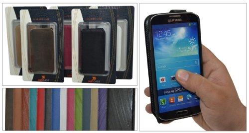 Suncase Flip Style Case - Funda para Samsung Galaxy S4 Mini, crema