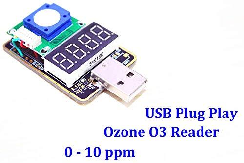 (High Precision Ozone Gas Analyzer Reader Detector USB Plug & Play Monitor Sensor)