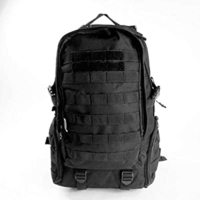K-Cliffs Large Black Military Tactical Backpack Molle Bug Out Rucksacks for Outdoor Camping Hiking Trekking Hunting
