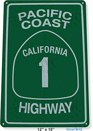 "NGFD TIN Sign 12"" x 18"" Pacific Coast Highway 1 Street, used for sale  Delivered anywhere in USA"