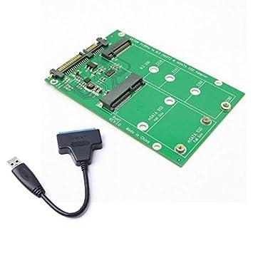 USB 3.0 7 + 15 Pin Disco Duro a mSATA & NGFF M.2 SSD 2 en 1 Combo ...