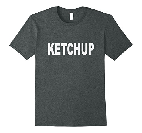 Do It Yourself Halloween Costumes Men (Mens Ketchup t-shirt Halloween Costume Do-it-Yourself XL Dark Heather)