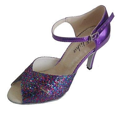 XIAMUO Latein individuelle Damen Sandalen angepasste Heel Lady Dance Schuhe, Rot, Us2.5/EU 32/UK1/CN 31.