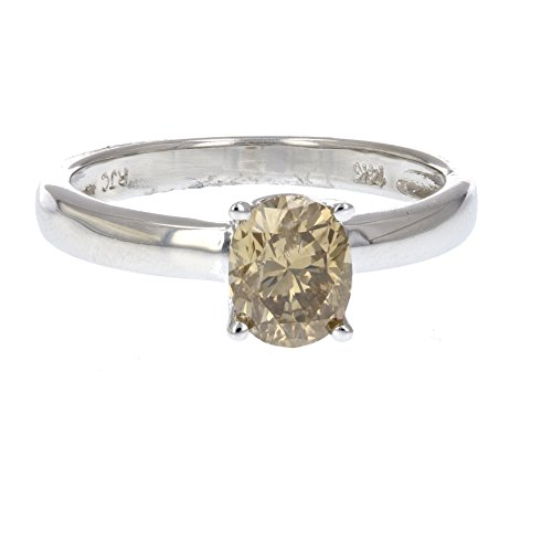 nd Solitaire Ring in 14K Gold Size 7 (Champagne Diamond Solitaire)