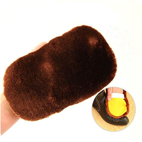 Clean Wool - 2pcs Soft Imitation Wool Polishing Shoes Brush Cleaning Gloves Shoe Leather Use - Crep Scraper Brush Brown Shoe Japan Horsehair Hair Polish Applicator 100% Cleaning Dance Duty Bo