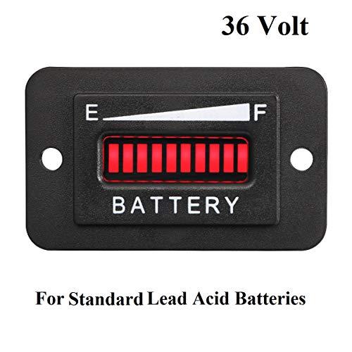 36 Volt LED Battery Indicator Meter Gauge for Golf Cart (Ez Go Golf Cart Electric Motor Troubleshooting)