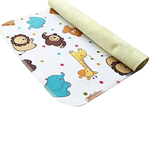 MOMLOVES - Baby Waterproof Washable Diaper Flannel Changing Mat Pad (Sunshine Lion 40