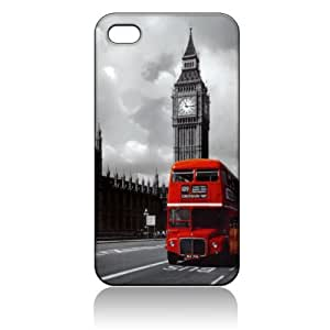 London Red Bus Hard Case Cover Skin for Iphone 4 4s Iphone4 At&t Sprint Verizon Retail Packing by icecream design
