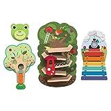 ORIBEL VertiPlay Wall Toys Combo Set (Tree Top Adventure, Woodpecker, Xylophone, Door Knocker)