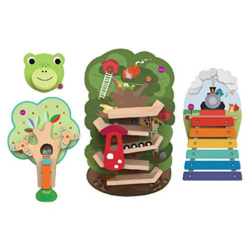 - ORIBEL VertiPlay Wall Toys Combo Set (Tree Top Adventure, Woodpecker, Xylophone, Door Knocker)