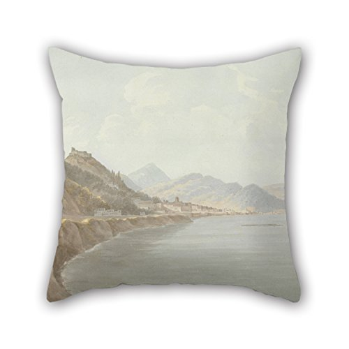 Oil Painting John Warwick Smith - Salerno Pillowcase 20 X 20 Inches / 50 By 50 Cm Gift Or Decor For Adults Coffee House Living Room Pub Chair Shop - Both Sides (Flower Shop Warwick)