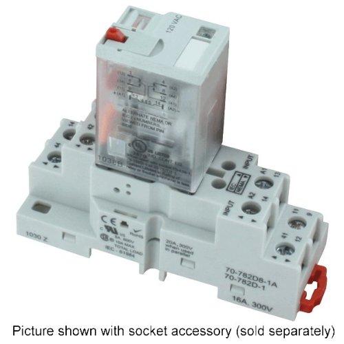 Dwyer DPDT Ice Cube Relay, 782XBXM4L-120A, 120 VAC 50/60 Hz, Coil Resistance 4430 Ohm