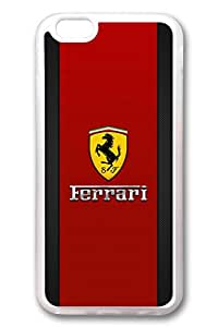 iPhone 6 Case - Crystal Clear Back Shock Absorption Bumper Soft Rubber Case for iPhone 6 Ferrari 2 Protective Clear Case for iPhone 6 4.7 Inches