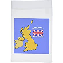 3dRose fl_42586_1 Map and Flag of The United Kingdom with Great Britain and Northern Ireland Garden Flag, 12 by 18-Inch