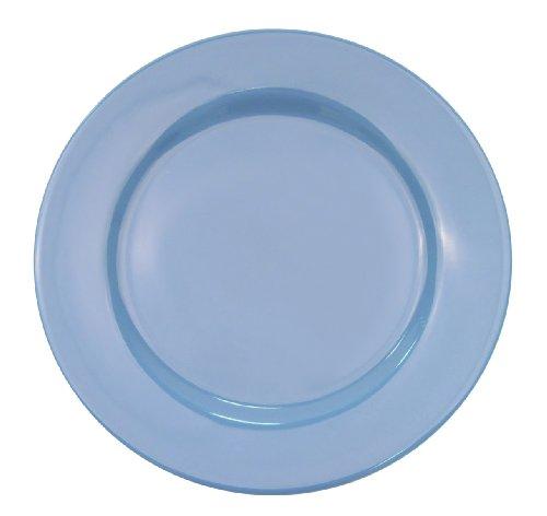 Light Blue Dinnerware - CAC China LV-8-LB 9-Inch Las Vegas Rolled Edge Stoneware Plate, Light Blue, Box of 24