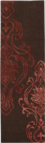 1950's Chocolate (Candice Olson by Surya Modern Classics CAN-1950 Classic Hand Tufted 100% New Zealand Wool Chocolate 2'6