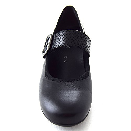 Gabor 57 Ladies Shoe 3½ Strap Velcro Schwarz OUSBY Court rB0wOrq