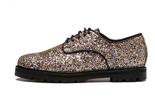 Scarpe casual britannico oro romantico Paillettes confortevole nuovo svago Primavera Estate Autunno donne YCMDM'S , gold , 37