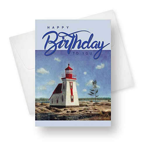 (175 Pack) Lighthouse Birthday Greeting Card - Premium Quality with Unique Designs - for Boys, Girls and Adults - 5.5
