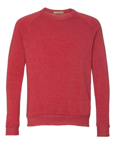 Alternative AA9575 Unisex Champ Fleece Crew - ECO TRUE RED - M