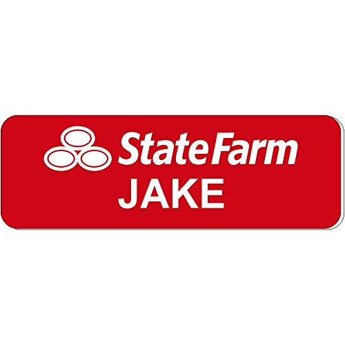 Jake from State Farm Halloween Costume Name Tag - Funny Halloween Costume -