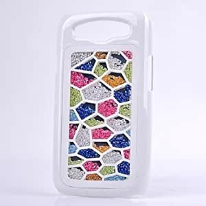 WQQ LUXURY Rhinestone Colorful Back Cover Case for SAMSUNG Galaxy S3 I9300(Assorted Colors) , White
