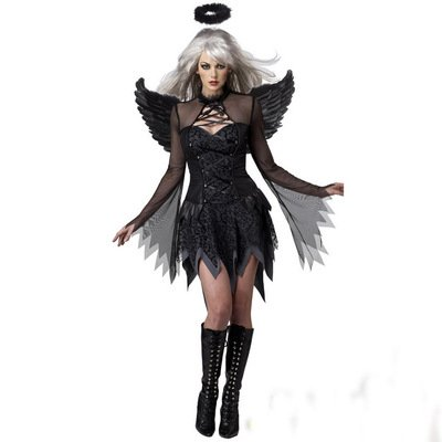 Hallowmax Halloween Women Cosplay Suit Fallen Angels Devil Witch Costume ()
