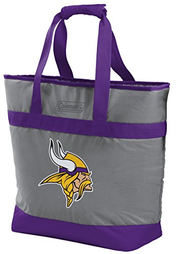 Coleman NFL Soft-Side Insulated Large Tote Cooler Bag, 30-Can Capacity, Minnesota Vikings