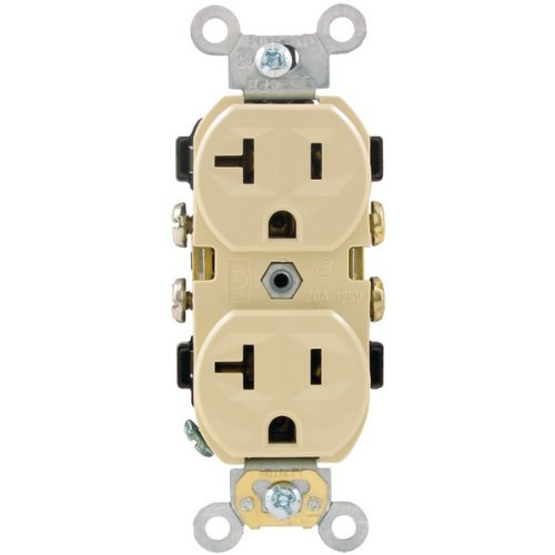 Pass & Seymour CR20-I Commercial Side Receptacle by Pass & Seymour