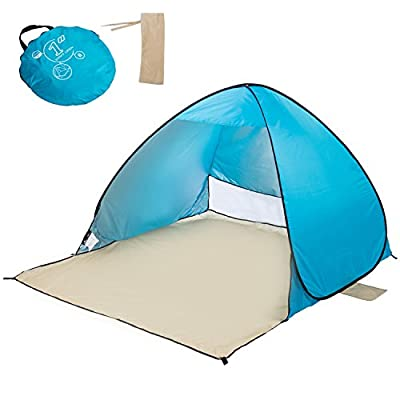Automatic Pop Up Instant Beach Tent For 2-3 Person Kids Adults, Portable Cabin Waterproof Outdoor Beach Tent Sun Shelter Anti UV For Camping Fishing Hiking Picnicking