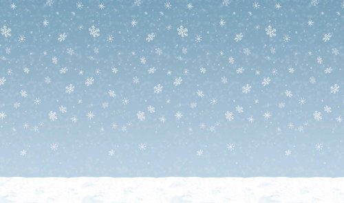 Winter Sky Backdrop Party Accessory (1 count) (Winter Wonderland Christmas Theme)