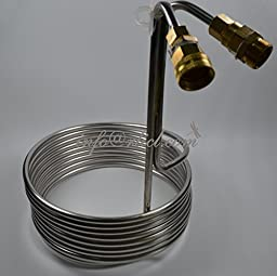 Shipping by Express, Stainless Steel Coil Cooler Wort Immersion Chiller Beer Brewing Equipment, Homebrewing