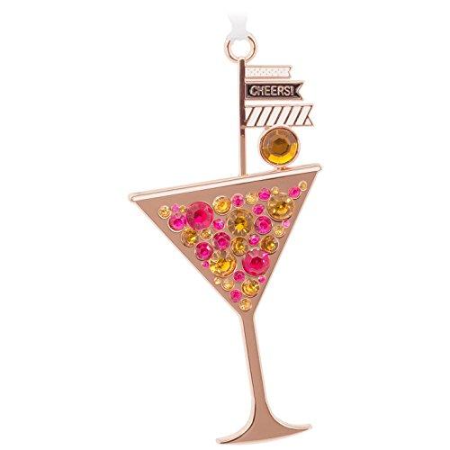 Martini Glass Happy Hour Premium Metal Hallmark Ornament Food & (Martini Ornaments)