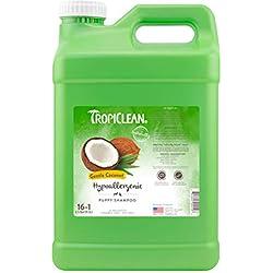TropiClean Gentle Coconut Hypoallergenic Puppy Shampoo, 2.5 Gallon
