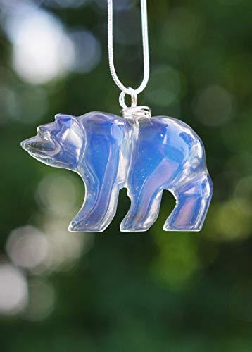 Opalite Stone Polar Bear Pendant - Bear Stone Pendant