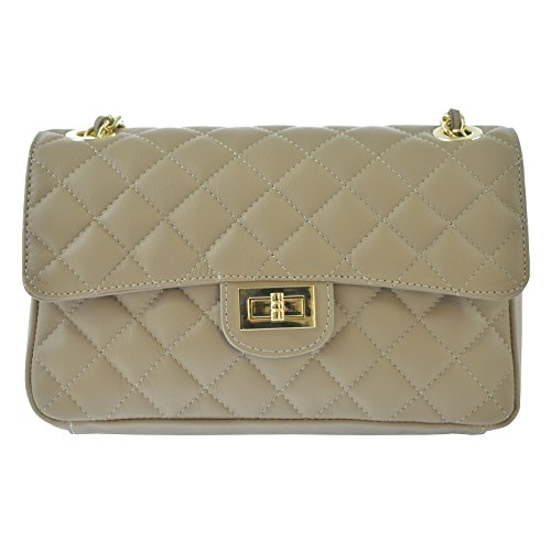 Mud Made Cm Leather Italy Bag body In Woman's 27x17x9 Genuine Quilted Cross Elegant Ctm D6078 qRw6zHn