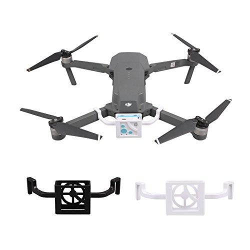 S Tracker Holder Bracket Tracer Locator Support for DJI MAVIC PRO Drone (White Black) ()