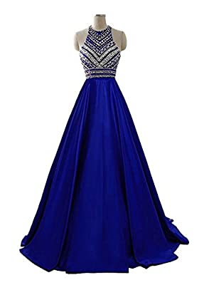 HEIMO Women's 2017 Sequins Evening Party Gowns Beading Formal Prom Dresses Long H187