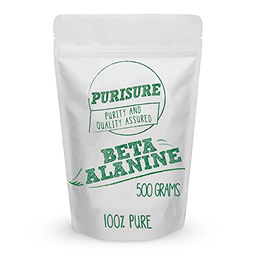 Beta Alanine Powder 500g (667 Servings) – Bulk Pre Workout Nutrition – Unflavored Supplement