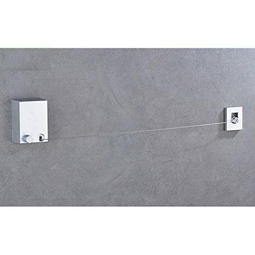 Hiendure 13.7 Feet Single Line Retractable 304 Stainless Ste