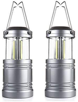 2 Pack LED Camping Lantern with Magnetic Base As Seen on TV Collapsible Lanterns – Survival Kit for Hurricane, Emergency, Storm, Power Outage