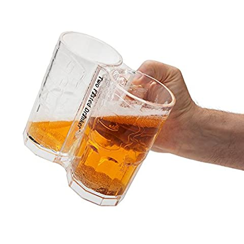 Two Fisted Drinker Beer Mug – Clear