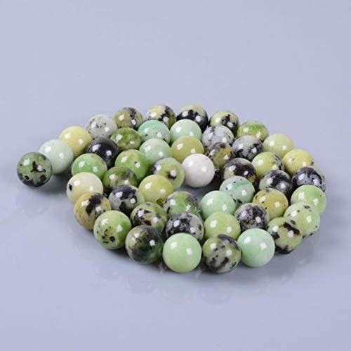 """Beads Bazar Natural Beautiful jewellery 8MM77 Chrysoprase round ball loose gemstone beads 16""""Code:- NY-8887"""