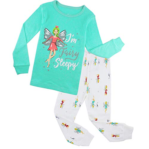 ZFBOZS Girls Pajamas Kids PJs Sets Fairy Clothes for Toddler Chilren Cotton Sleepwears Size 8