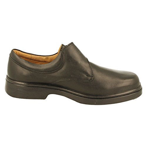 db Schwarze Reece 4e, Mens Weiter Passform Schuh mit Touch Registerkarte Enger Black
