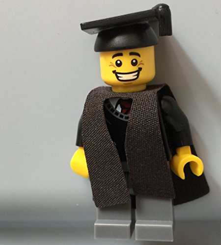 lego minifigure graduation cap mortarboard hat graduate college high school cake topper toy figure